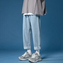 Furtheron - 九分直筒牛仔褲