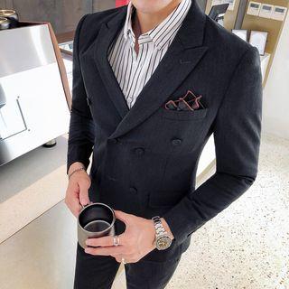 Besto - Set: Double-Breasted Blazer + Dress Pants
