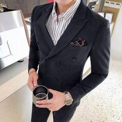 Besto - 套裝: 雙排扣西裝外套 + 西褲