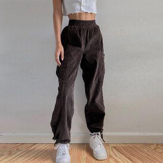 BrickBlack - 灯芯绒宽腿裤