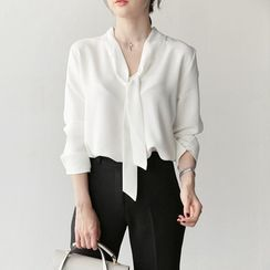 Lunarix - V-Neck Blouse