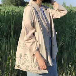 Sacculi - Printed Linen Tote Bag