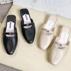 Weiya - Faux Leather Mules