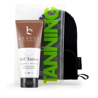 Beauty by Earth - Self Tanner Set: Sunless Tanning Lotion + Application Mitts