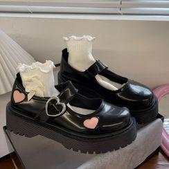 RevaBev - 心心印花玛莉珍鞋