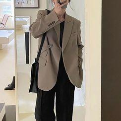 Windcatcher - 純色單扣西裝外套
