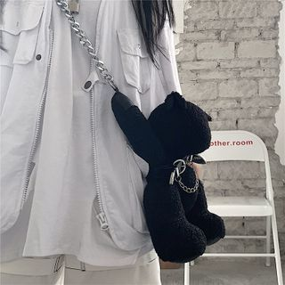 Porstina - Bear Chained Crossbody Bag