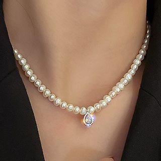 Catalunya - 仿珍珠貼脖項鏈