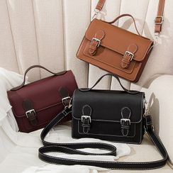 Lanabelle - Faux Leather Satchel