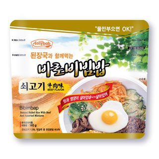 Easybab - Korean Instant Rice Beef Flavor (With Bean Paste Soup) 140g