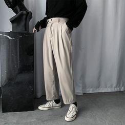 Cowpow - Plain Straight-Cut Pants