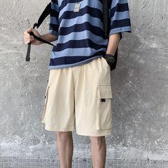 Bay Go Mall - Wide-Leg Cargo Shorts