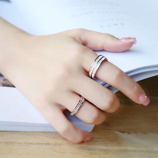Agape - Rhinestone Ring