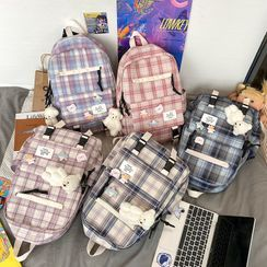 Tango Sky - Plaid Zip Backpack