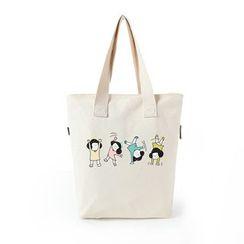 Lozynn - Printed Canvas Tote Bag (Various Designs)