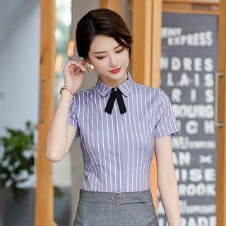 Victoire(ヴィクトワール) - Short-Sleeve Dress Shirt / Mini Pencil Skirt