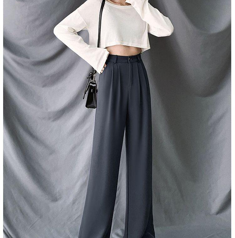 Indiclofie - High-Waist Wide-Leg Dress Pants