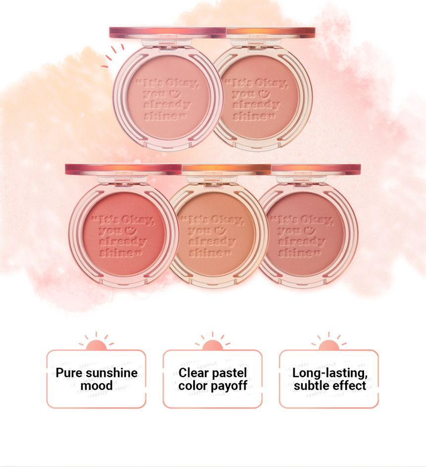 peripera - Pure Blushed Sunshine Cheek - 5 Colors
