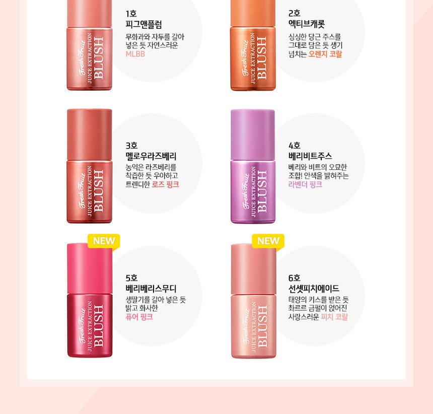 Skinfood Fresh Fruit Juice Extraction Blusher 6 Colors Yesstyle