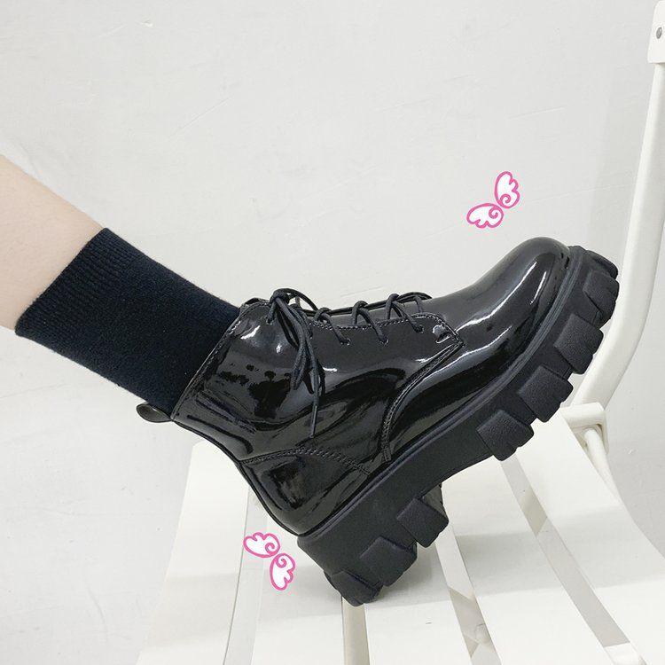 Vindler Platform Lace Up Short Boots
