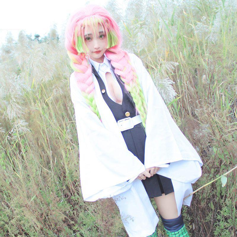 Mikasa Demon Slayer Kimetsu No Yaiba Mitsuri Kanroji Cosplay Costume Wig Set Yesstyle There are 196 mitsuri demon slayer for sale on etsy, and they cost $19.34 on average. demon slayer kimetsu no yaiba mitsuri kanroji cosplay costume wig set