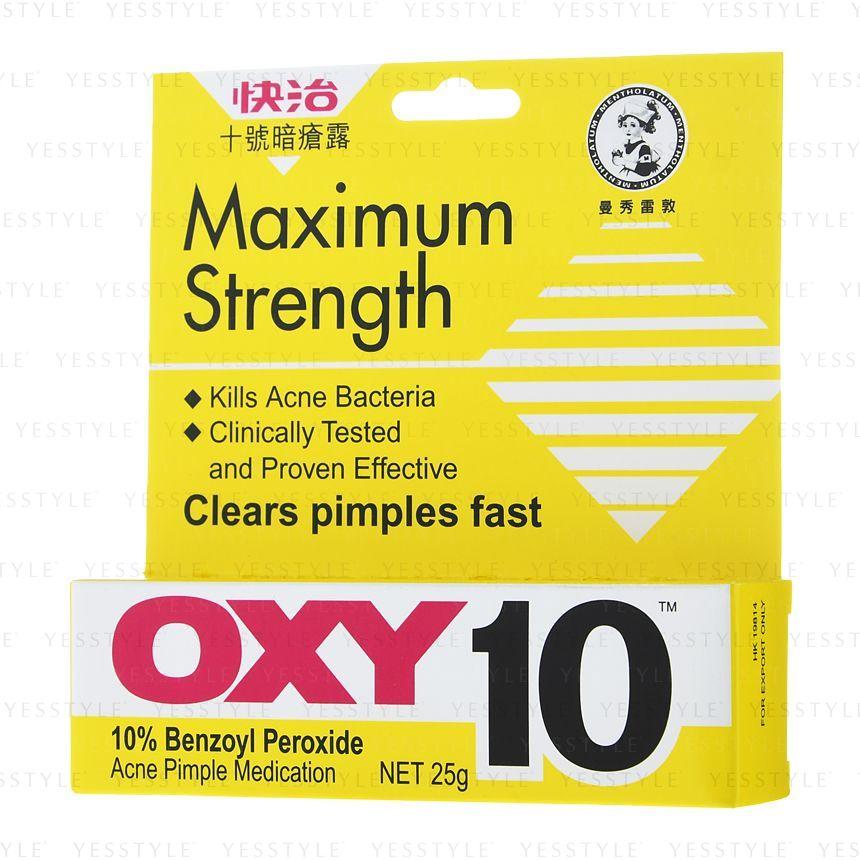 Rohto Mentholatum Oxy 10 Maximum Strength Acne Pimple Medication Yesstyle