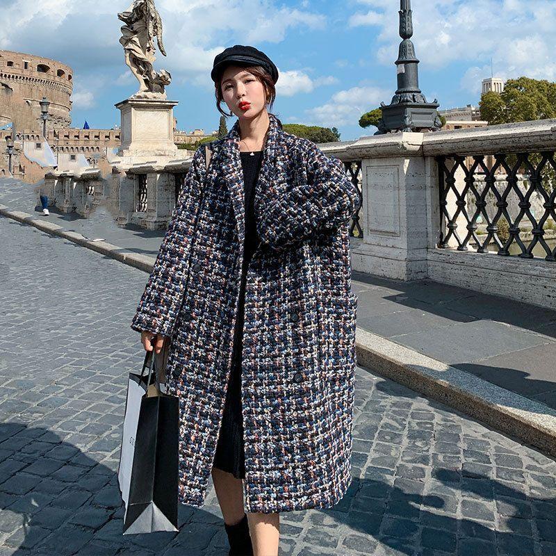Ariadne - Oversized Tweed Coat