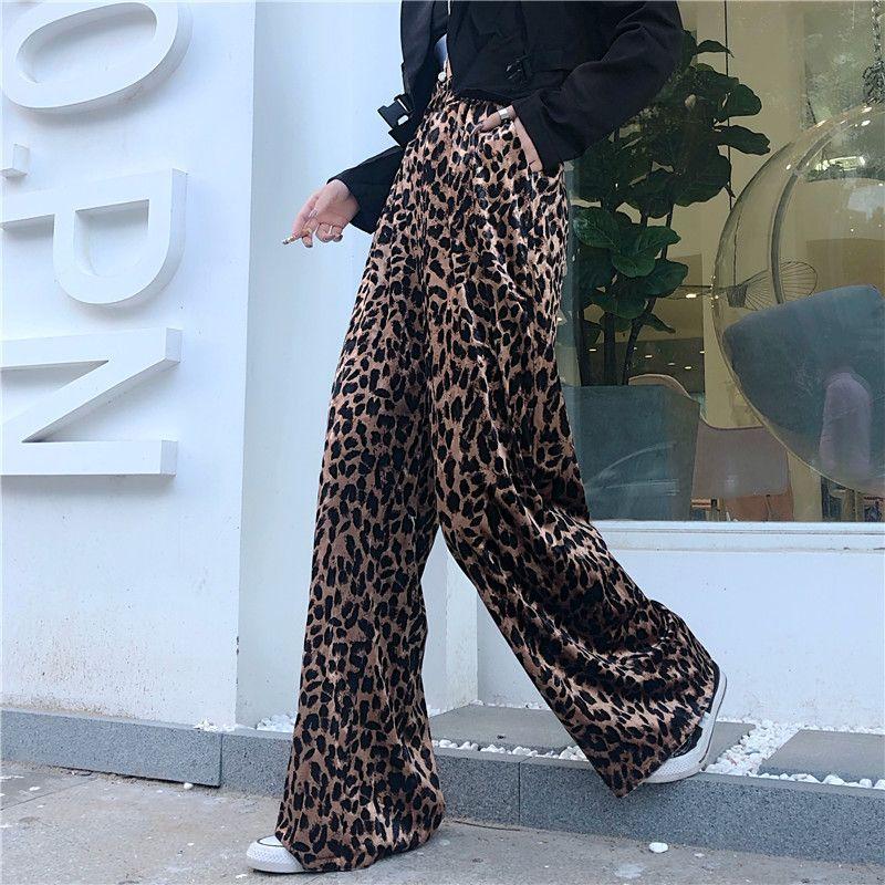 Leopard Print Wide Leg Bells