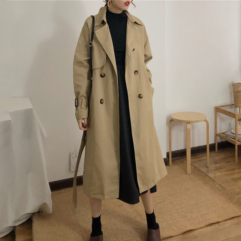 Glen Glam - Double-Breasted Trench Coat