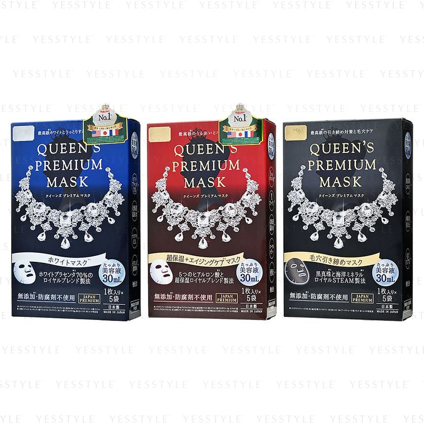 Quality First Queen's Premium Mask 5 pcs - 3 Types   YesStyle