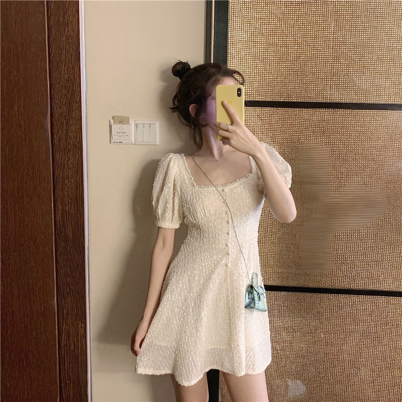 Pobblebonk - Puff-Sleeve A-Line Mini Dress