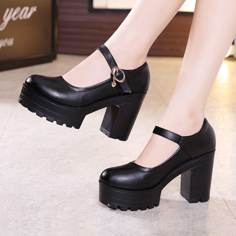 Obelie Chunky Heel Platform Mary Jane