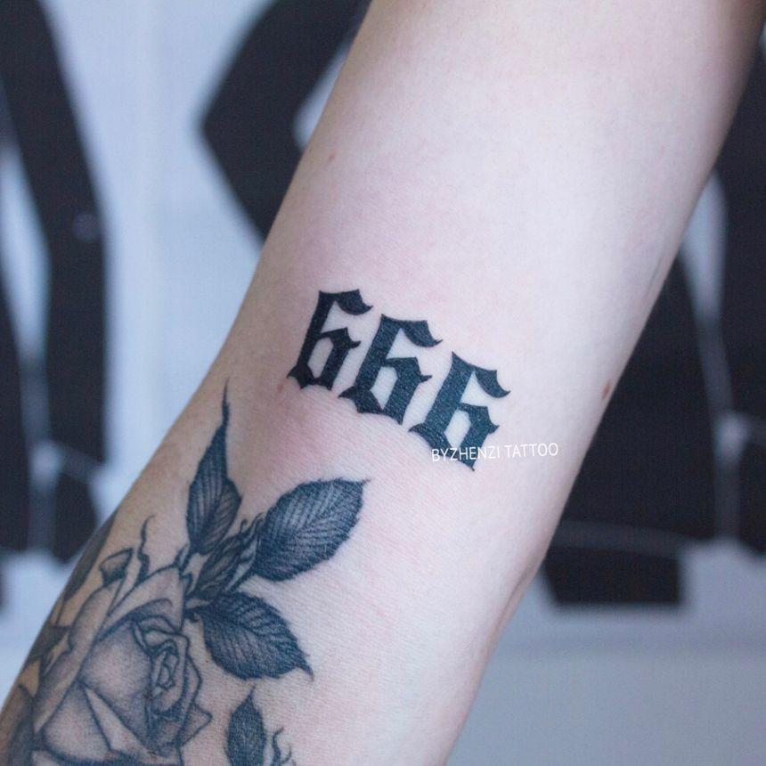 666 tattoo Dragon's Tattoo