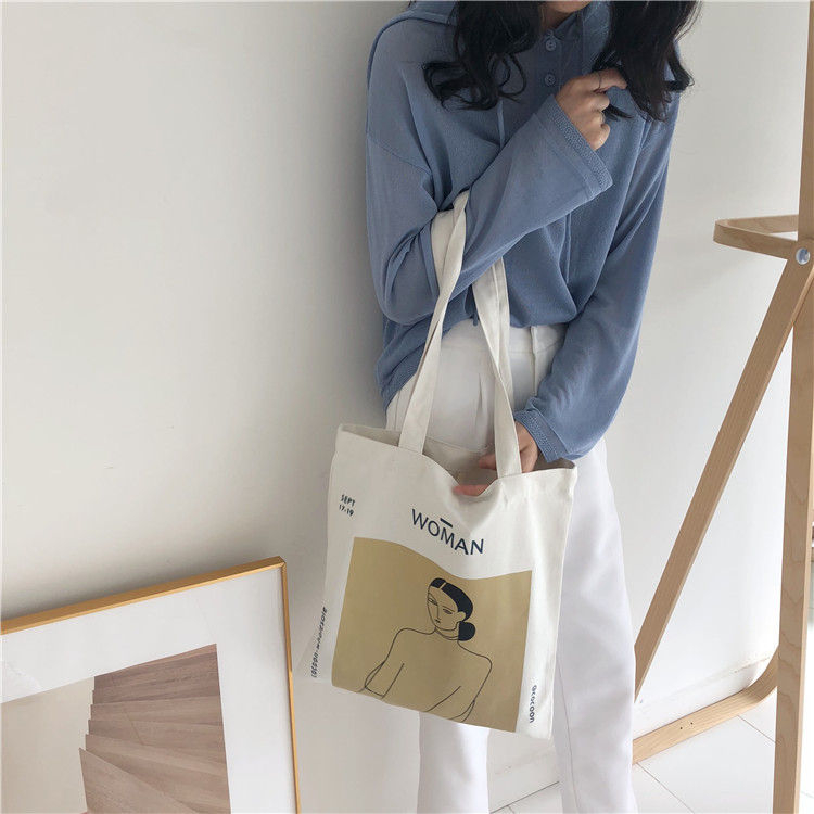 Milha Printed Canvas Tote Bag | YesStyle