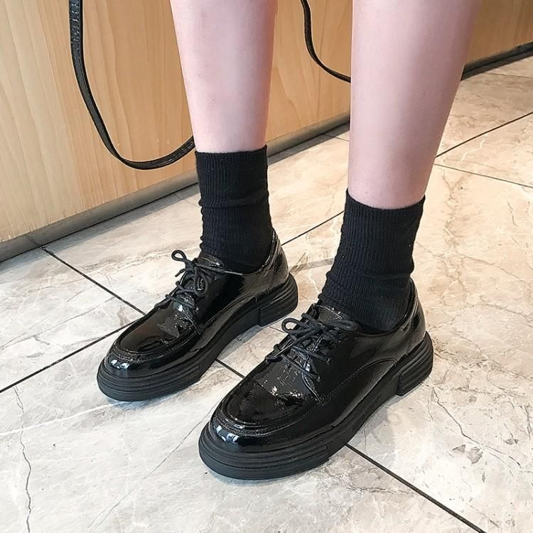 JY Shoes Genuine Leather Platform
